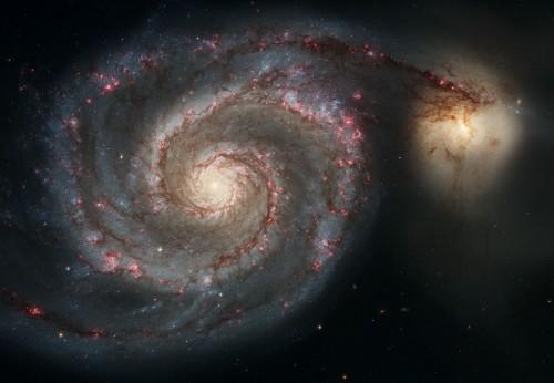 la Whirlpool Galaxy in tutto il suo splendore
