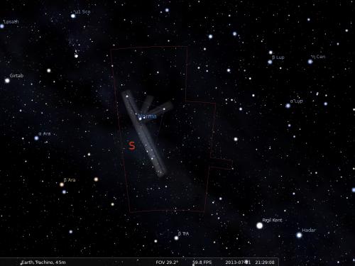 la Norma secondo Stellarium