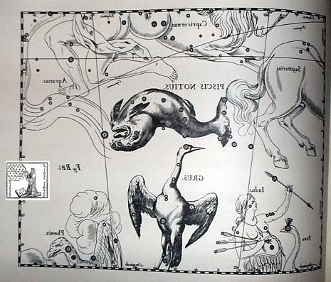 il Pesce Australe secondo Hevelius