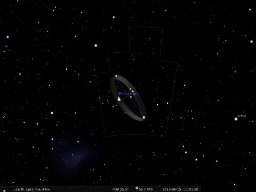 la costellazione del Reticolo secondo Stellarium