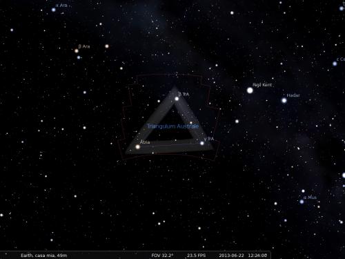il Triangolosecondo Stellarium