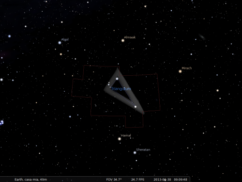 il Triangolo secondo Stellarium