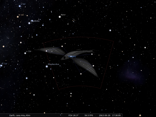 il Pesce Volante secondo Stellarium