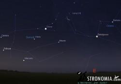 Congiunzione Luna - Giove, giorno 3 ore 5