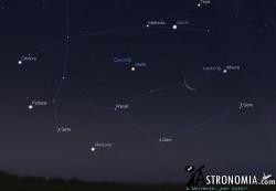 Congiunzione Luna - Marte, giorno 4 ore 5