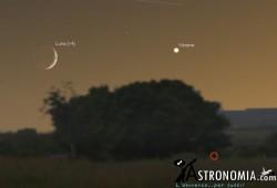 Congiunzione Luna - Venere, giorno 10 ore 21