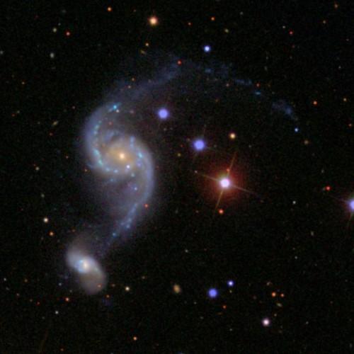 le due galassie $NGC$ 2535 e 2536 che stanno interagendo