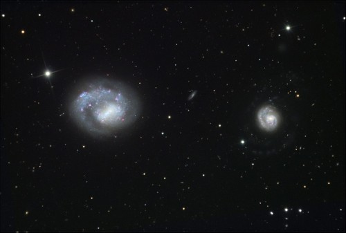 le galassie $NGC$ 4618 e $NGC$ 4625