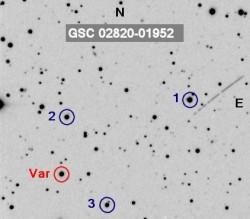 GSC 02820-01952 - cartina di riferimento