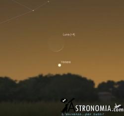 Congiunzione Luna - Venere, giorno 2 ore 17:30