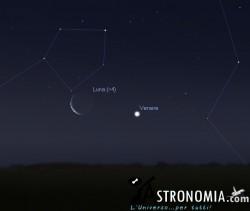 Congiunzione Luna - Venere, giorno 26 ore 5
