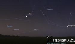 Congiunzione Luna - Venere, giorno 24 ore 5