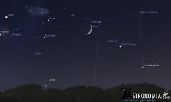 Congiunzione Luna - Saturno, giorno 28 ore 19:30