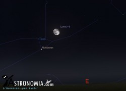 Congiunzione Luna - Pleiadi, giorno 11 ore 22