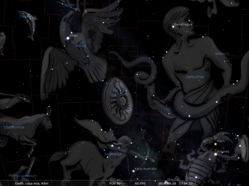 lo Scudo secondo Stellarium