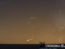 Congiunzione Luna - Venere, giorno 23 ore 17:30