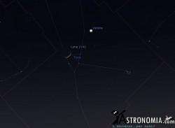 Congiunzione Luna - Venere giorno 21 ore 21