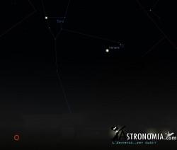 Congiunzione Venere - Pleiadi, giorno 11 ore 21:30