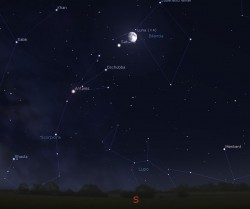 Congiunzione Luna. Saturno - giorno 28 ore 22