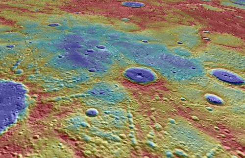La regione di Suisei Planitia, uno fra i siti di Mercurio nei quali sono stati rilevati i segnali magnetici provenienti dalla crosta del pianeta. Crediti: NASA, Johns Hopkins University Applied Physics Laboratory, Carnegie Institution of Washington