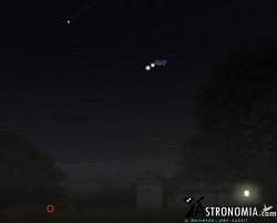 Congiunzione Giove - Venere, giorno 1 ore 22
