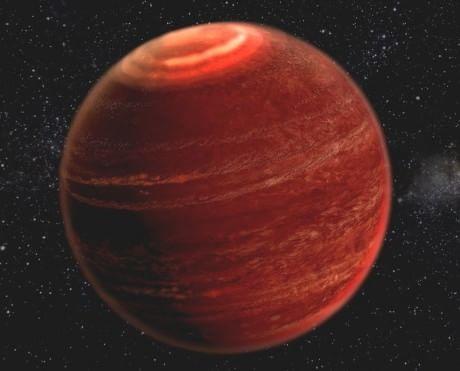 Rocostruzione di un'aurora sulla nana bruna LSR J1835+3259. (Cortesia Chuck Carter,Gregg Hallinan/Caltech)