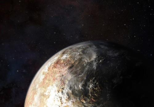 Nuvole nell'atmosfera di Plutone? Il 14 luglio 2015 lo sapremo. Crediti: JHUAPL