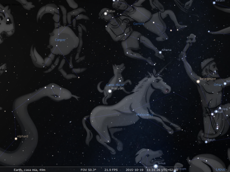Il Cane Minore secondo Stellarium