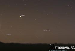 Congiunzione Luna - Marte, giorno  13 ore 5:30