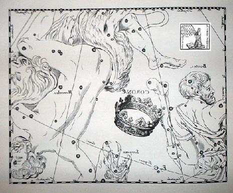 la Corona Boreale secondo Hevelius
