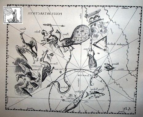 la rappresentazione della Gru secondo Hevelius