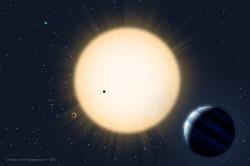 Impressione artistica del sistema planetario HD 219134.