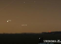 Congiunzione Luna - Giove, giorno 12 ore 6