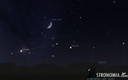 Congiunzione Luna - Saturno, giorno 19 ore 21