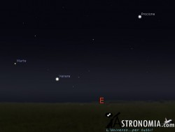 Congiunzione Venere - Marte, giorno 2 ore 5
