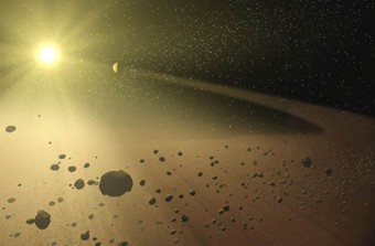 Immagine artistica disco di polveri Crediti immagine: NASA/JPL-Caltech/T. Pyle (SSC)