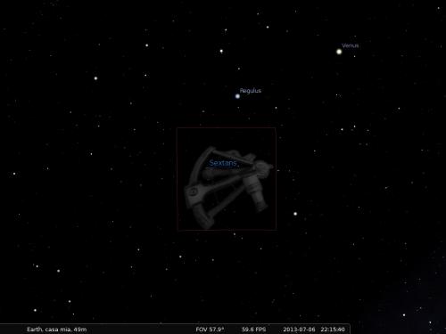 Il Sestante secondo Stellarium