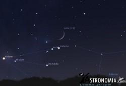 Congiunzione Luna - Saturno, giorno 16 ore 19:30