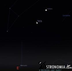 Congiunzione Marte - Giove,, giorno 17 ore 6