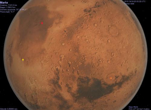 Tre zone di Marte, per mezzo di Celestia