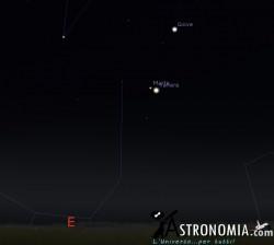 Congiunzione Marte - Venere, giorno 3 ore 4:30