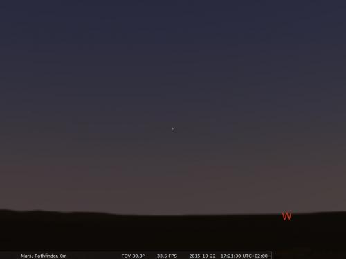 Phobos visto da Marte