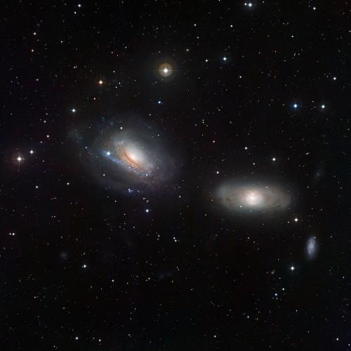 le galassie in interazione $NGC$ 3169 e $NGC$ 3166
