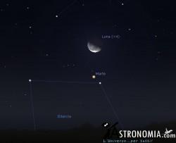 Congiunzione Luna - Marte, giorno 1 ore 2