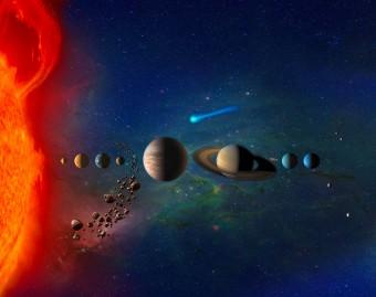 Il Sistema solare contiene sia corpi grandi che piccoli. Lo studio della Duke University si propone una nuova spiegazione di fisica generale sul perché esista questa diversità in dimensioni. Crediti: NASA