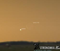Congiunzione Luna - Venere, giorno 6 ore 6:30