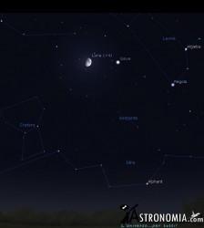 Congiunzione Luna - Giove, giorno 22:30