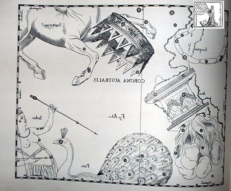 la Corona Australe secondo Hevelius