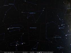 la mappa di Stellarium con il Microscopio