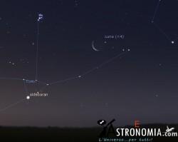 Congiunzione Luna - Pleiadi, giorno 1 ore 4:30